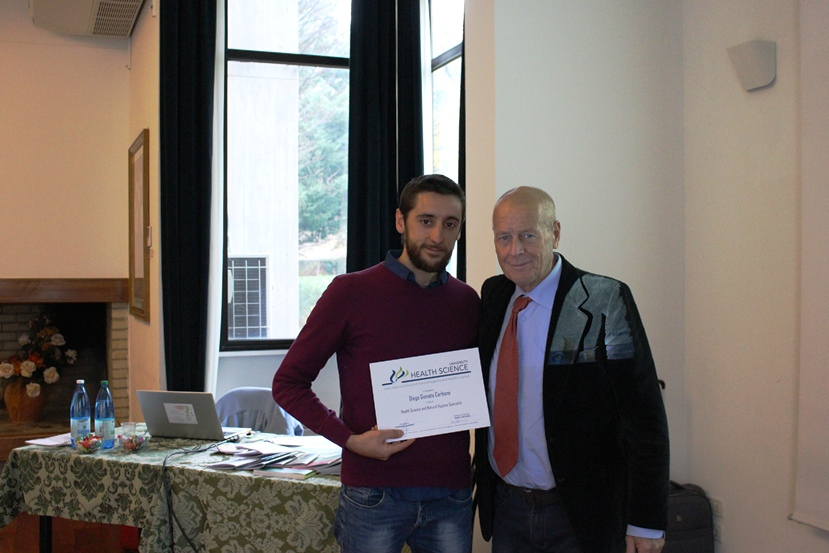 About me: Consegna diploma in Natural Hygiene con Valdo Vaccaro
