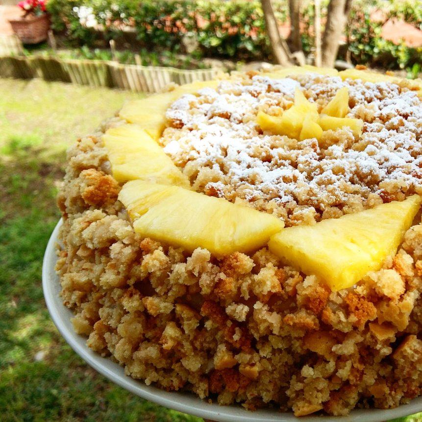 Mimosa vegan cake