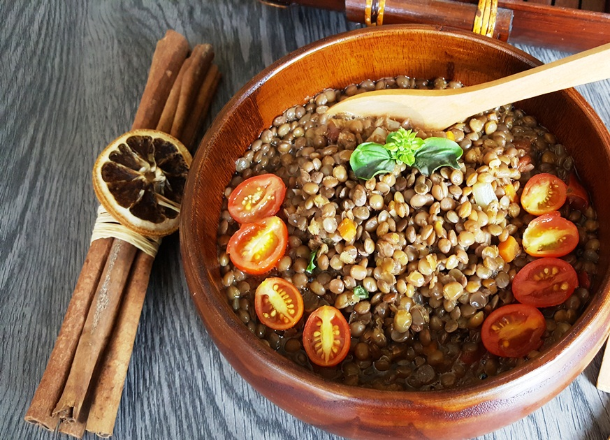 Lentil soup according to Natural Hygiene: proceed step by step
