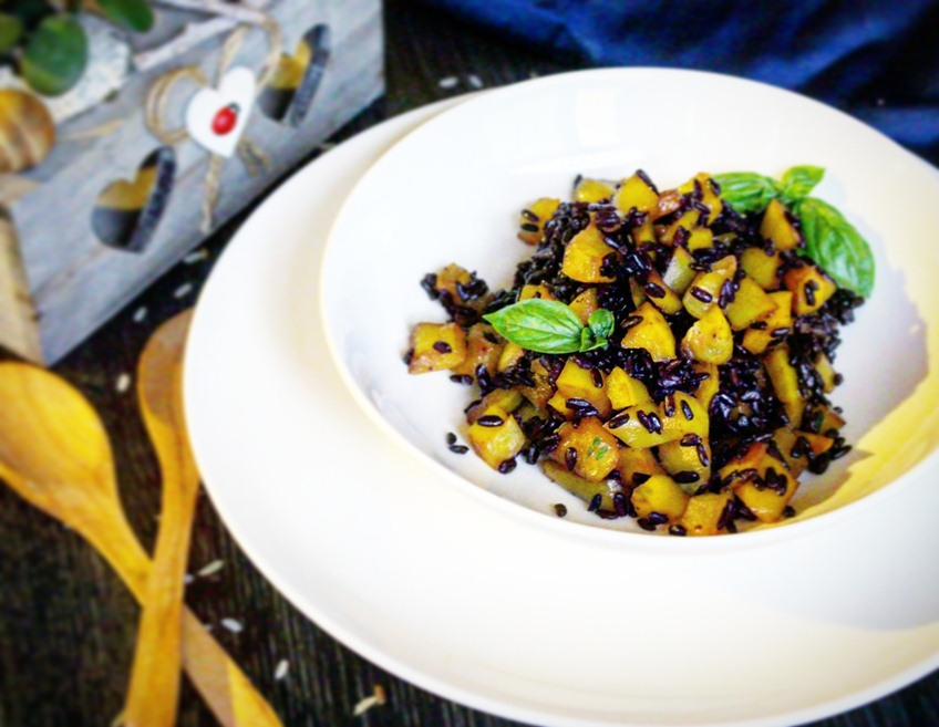 Venus rice with yellow peppers. Today the recipe of venus rice