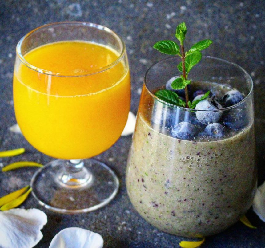 Breakfast: important morning routines. Juices and smoothies