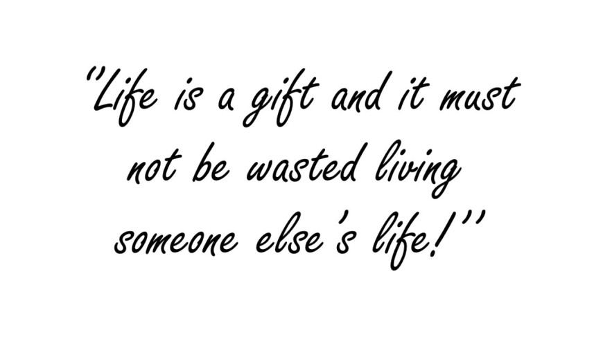 Act or React ? Life is a gift