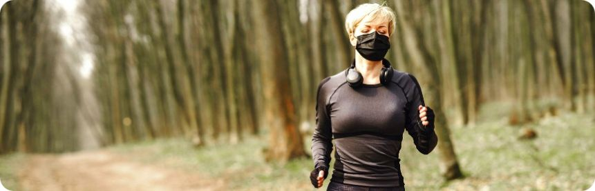 Mask is harmful. Don't wear it while running